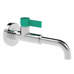 Taya Top con leva colorata rubinetto miscelatore monocomando per lavabo a parete