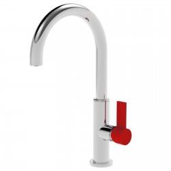 Taya leva colorata rubinetto miscelatore monocomando per lavabo con bocca d'erogazione curva 40601TCLC