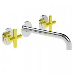 Towertech rubinetto lavabo incasso 3 fori (14200 CROSS)