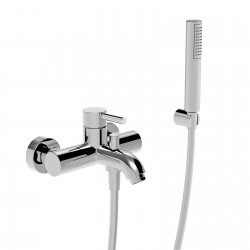 Single lever bath mixer with fix wall bracket  Newtech La Torre 12019