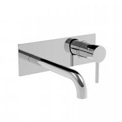 Newtech rubinetto lavabo incasso con placca 12207