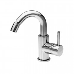 Bidet faucet with side lever and pop-up waste Newtech La Torre 12611CS