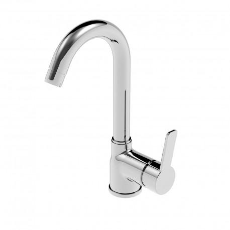 Newpro rubinetto miscelatore monocomando per lavabo con bocca d'erogazione alta 42601