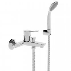 Newpro rubinetto miscelatore monocomando per vasca completo di accessori 42019