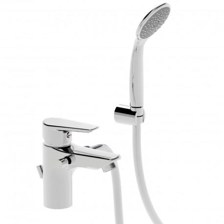 Metrò rubinetto miscelatore monocomando per lavabo con attacco laterale destro e doccetta 32330DD