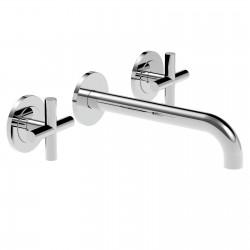 Crosstech rubinetto lavabo incasso 3 fori 12283