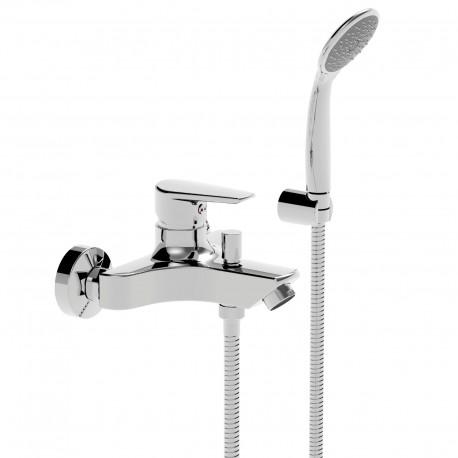 Metrò rubinetto miscelatore monocomando per vasca completo di accessori 32019