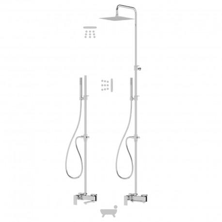 Profili plus colonna con rubinetto esterno doccia con bocca girevole (46025 COL)