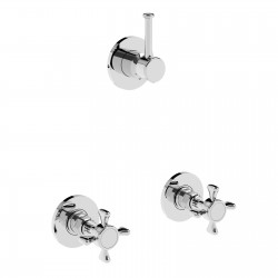 Concealed shower valves with bridging unit and 4 ways diverter Victoria 25750R