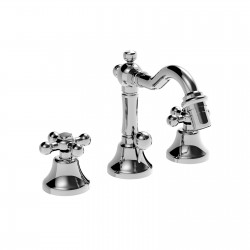 3 holes bidet set with pop-up waste and retrò spout Leonardo 23710RE