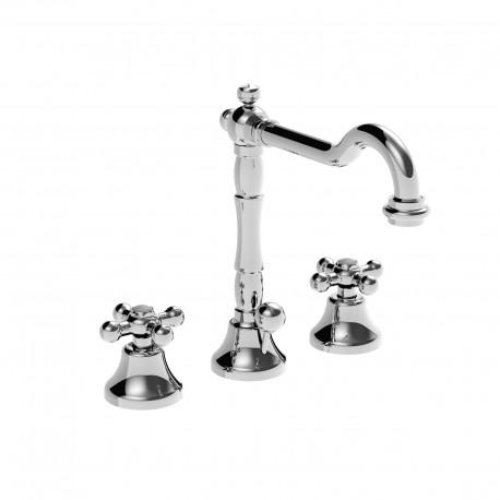 3 holes wash basinset with rétro spout and pop-up waste Leonardo 23703RE