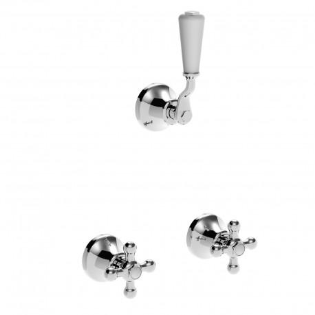 Concealed shower valves with concealed bridging unit and 4 ways diverter Leonardo 23750R