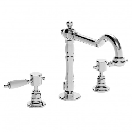 3 holes wash basinset with rétro spout and pop-up waste Imperial 15703