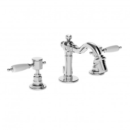 3 holes bidet set with pop-up waste and retrò spout Imperial 15710