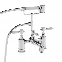 Deck mounted bath mixer with shower set (180 mm centre to centre distance) Imperial 15026