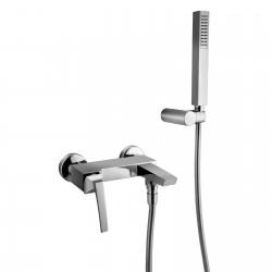 Luce rubinetto miscelatore monocomando per vasca completo di accessori 84002