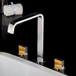 Luce Suite batteria per lavabo a 3 fori con bocca d'erogazione alta 84068SC