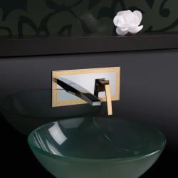 Luce Suite rubinetto miscelatore monocomando lavabo incasso con placca e bocca d'erogazione mm 180 84034SC