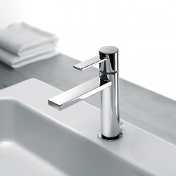 Single-lever washbasin mixer with or without pop-up waste Gaia 55054-55050