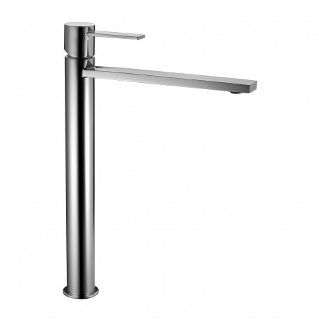High version single-lever washbasin mixer without waste Gaia 55065