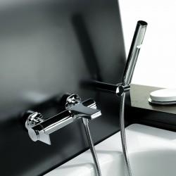 External single-lever bath mixer with duplex shower Gaia 55002