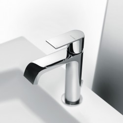 Single-lever washbasin mixer with or without pop-up waste Tolomeo 83054 - 83050