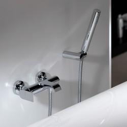 Tolomeo rubinetto miscelatore monocomando per vasca completo di accessori 83002
