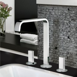 3-hole washbasin mixer with fixed spout without pop-up waste Vita 53068