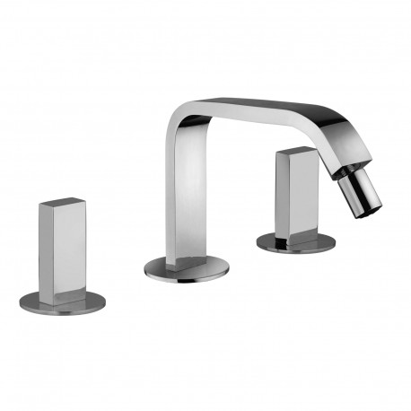 3-hole bidet mixer with fixed spout without pop-up waste Vita 53104
