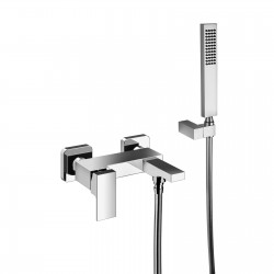 External single-lever bath mixer with duplex shower Vita 53002