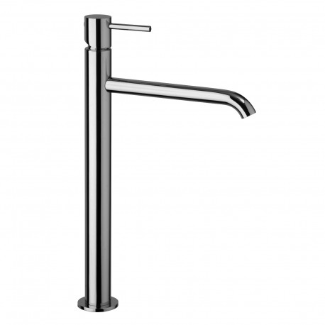 High version single-lever washbasin mixer without waste Pepe 12065