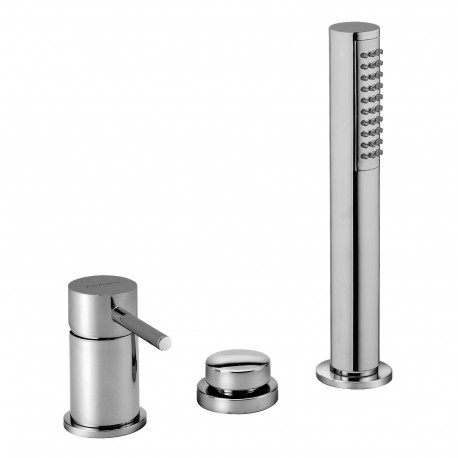 Deck mounted bath mixer with diverter and pull-out shower Pepe 12028