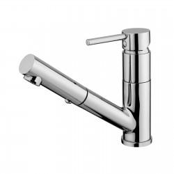 Pepe rubinetto miscelatore monocomando per lavello con doccetta estraibile e bocca d'erogazione mm 180 12168