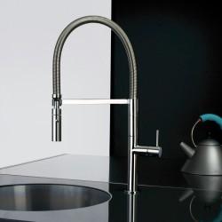 Pepe rubinetto miscelatore monocomando per lavello con canna flessibile 12172