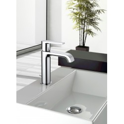 Single-lever washbasin mixer with or without pop-up waste Gioia 73054-73050