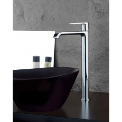 High version single-lever washbasin mixer without waste Gioia 73065