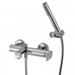 External single-lever bath mixer with duplex shower Gioia 73002