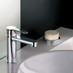 Single-lever washbasin mixer with or without pop-up waste Mocca 60054-60050