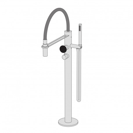 Mirò Free-standing bath group with hand shower PM2