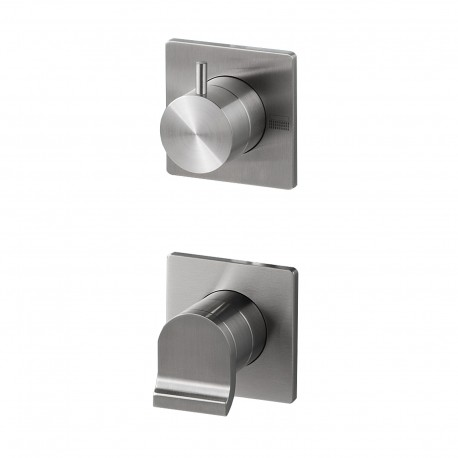Okami built-in shower mixer with integrated 3-ways diverter