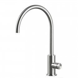 Hiro single lever basin mixer with swivel bridge-shaped spout