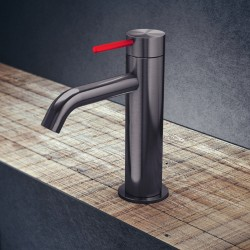 Toki single lever medium basin mixer without pop-up waste and drain