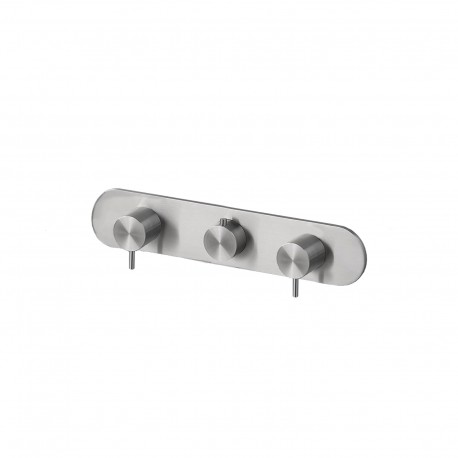 Toki thermostatic built-in mixer with two stop valves