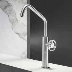 Kàto single lever high basin mixer without pop-up waste and drain KAT3