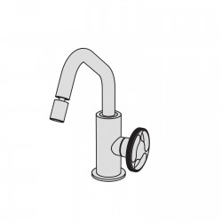 Kàto single lever bidet mixer without pop-up waste and drain