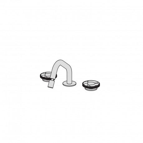 Kàto 3 hole bidet set with two remote controls  with ceramic valve