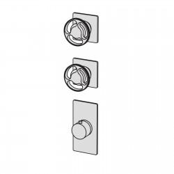 Kàto incasso doccia termostatico a muro con collettore 2 vie KAT55