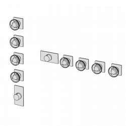Kàto incasso doccia termostatico a muro con collettore 4 vie KAT57