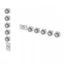 Kàto incasso doccia termostatico a muro con collettore 5 vie KAT58