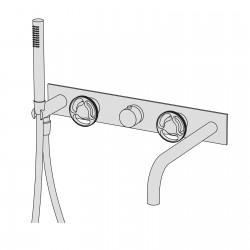 Kàto incasso vasca termostatico con doccetta  e bocca d'erogazione KAT52
